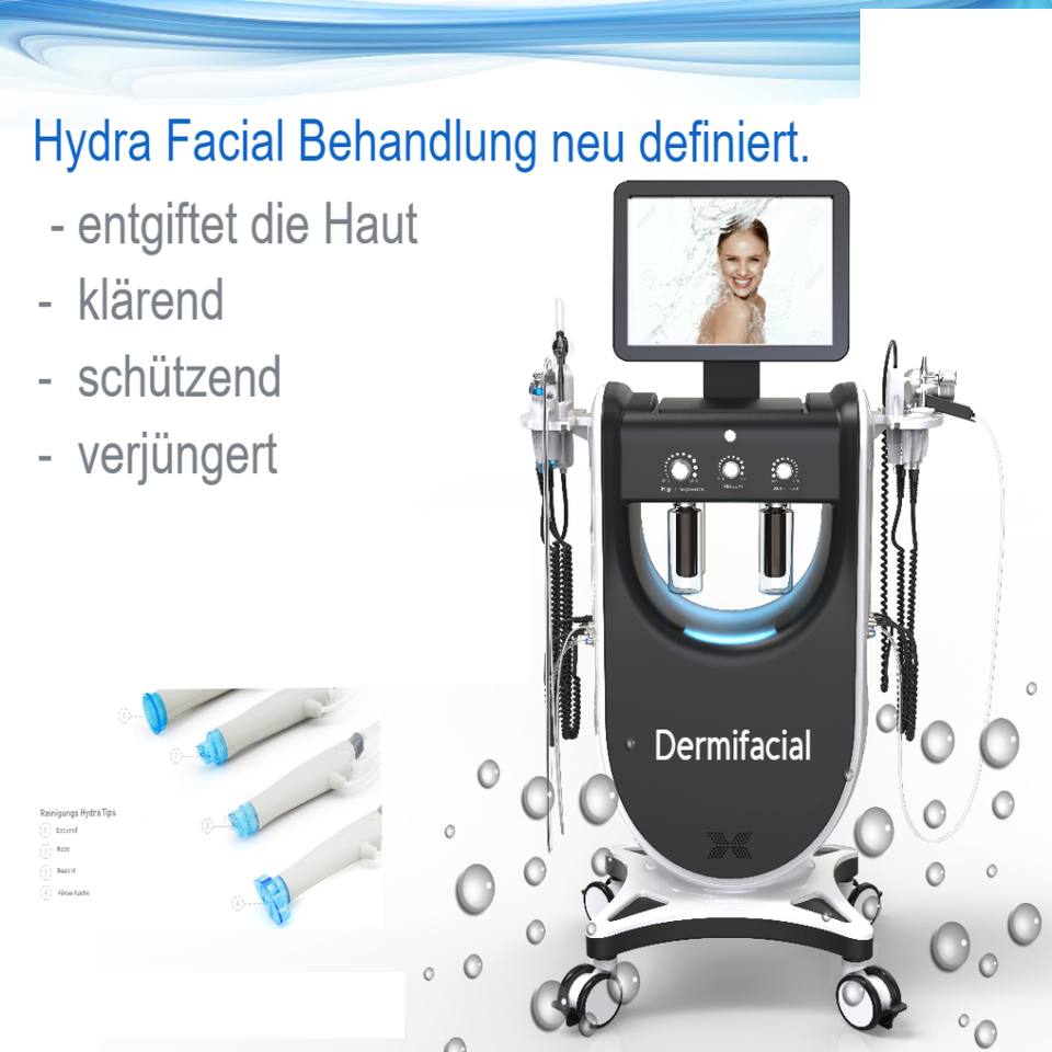 Hydrafacial skin care and acne remover beauty machine